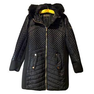 Michael Kors Puffer Jacket Bubble Moto faux fur 3X